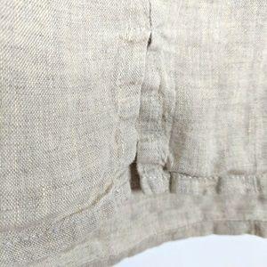 Flax Tops - FLAX Designs 100% LINEN Tank Top Tan Button Front